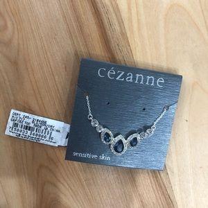 cezanne Jewelry - 3/$25 Cezanne Fine Costume Silver Gem Necklace NWT